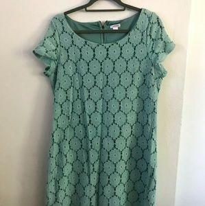 Target Xhilaration Retro Floral Mint Dress